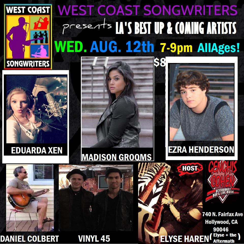 Tomorrow nite Los Angeles @GenghisCohenLA @WCSong w/ @Ezra_Henderson @NitaneeParis @Elyse411& more 7-9pm  All Ages $8 http://t.co/u7fAeIshHl