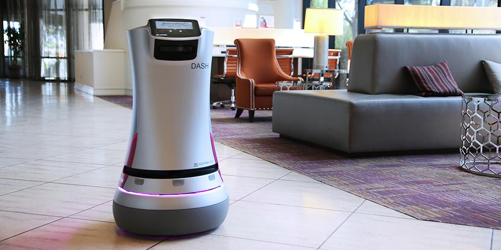The future of business #travel is here - meet Dash. It brings what you need, when you need it. #Robots #DashDelivers http://t.co/wRTSqrWatR