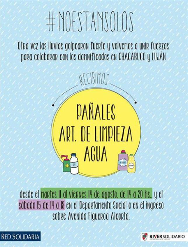 #Inundaciones Un Abrazo a Pergamino, Areco, Lobos, Saladillo, Luján, Salto y Arrecifes! #NoestanSolos http://t.co/zs5kYLCxHr