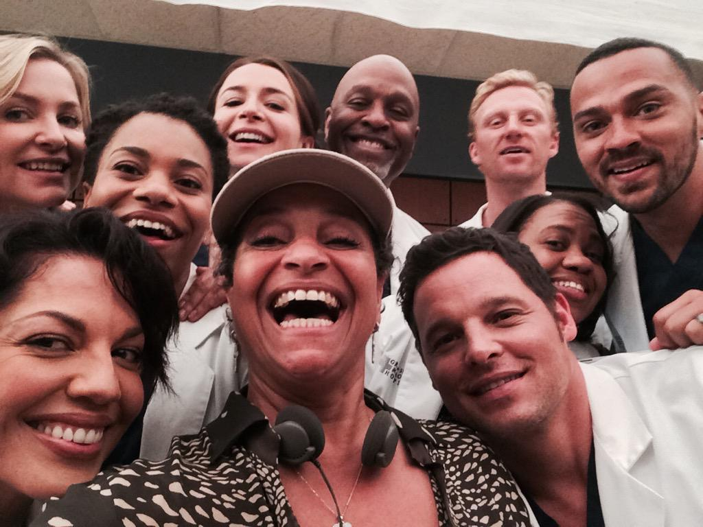 Me and my #GreysFamily This season is spectacular!!!! #season12 http://t.co/v5F7cZE2qM