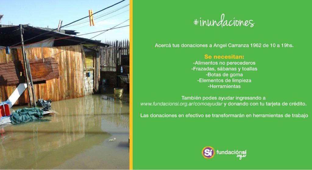 Es mucha gente la que necesita nuestra ayuda, y como siempre @sifundacion te espera con lo que puedas donar! Gracias! http://t.co/nlFQl4sU7U
