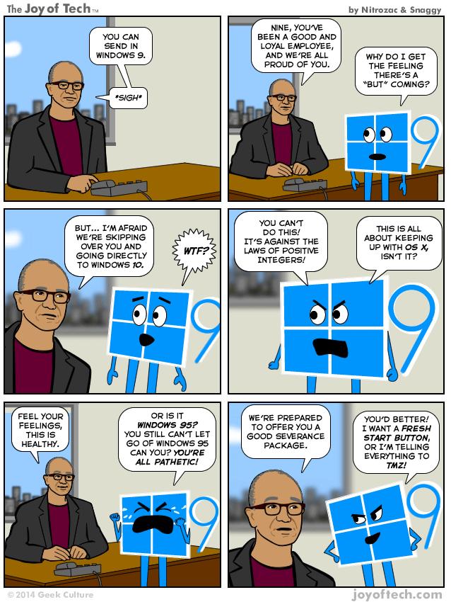 Why Windows 9 was skipped... on a light note #Windows10 http://t.co/wNFk1i19u3