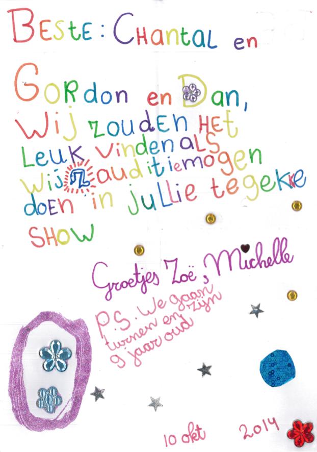 Help ons Zoë & Michelle te vinden? Een prachtige brief, helaas zonder contactgegevens. https://t.co/yMpY5aohfg RT aub http://t.co/x091ypI6DZ