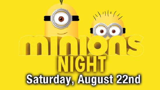 Minions Night on Saturday 8/22 includes appearances by Minions characters & Minions-themed FIREWORKS! Don't miss it! http://t.co/SONzVstsdI