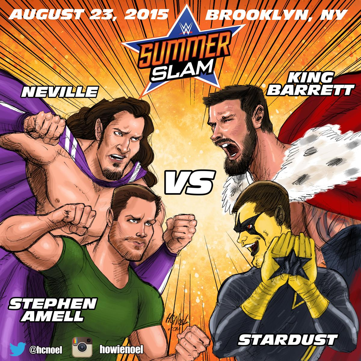 @amellywood Just drew this art for your match at #Summerslam @WWENeville @StardustWWE @WadeBarrett @WWE http://t.co/6xFjlU2fHk