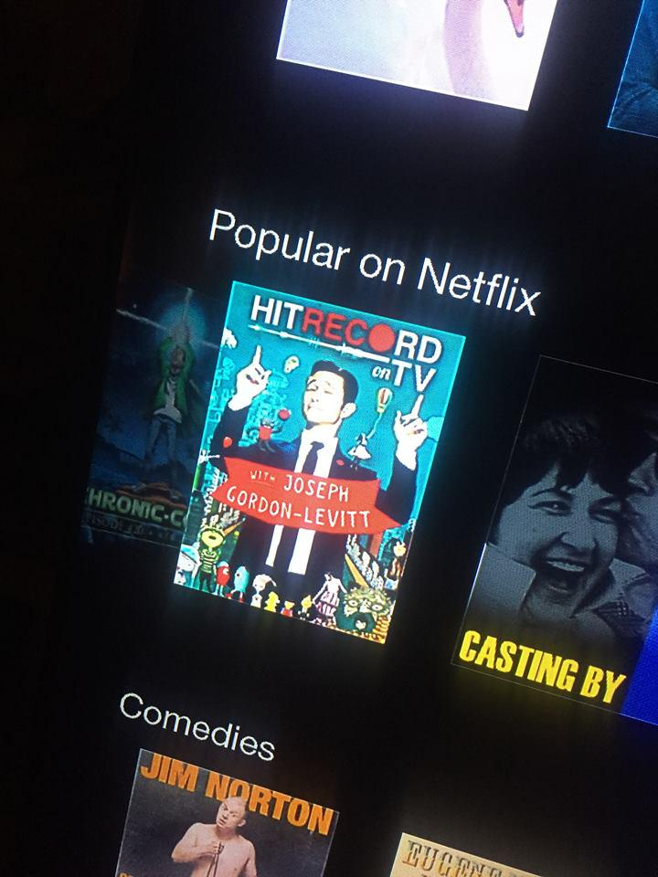 RT @jaredgeller: we're popular on @netflix! we're popular on @netflix! :D #HITRECORDonTV http://t.co/GICHaaMimb