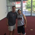 My point guard at camp, Jerry Ferrara. Says he's better than @tulis3. Too late for cameo!!! Man! http://t.co/eta5VeBjqV
