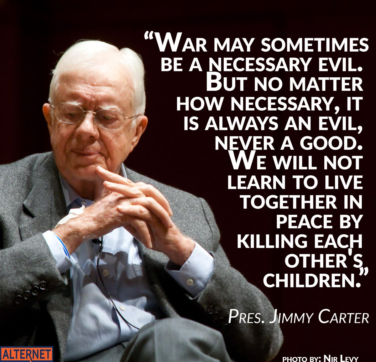 Thinking about Jimmy Carter and the Carter family today. We need his voice for #peace: #uniteblue #NoIranWar http://t.co/75oNqIXEUu