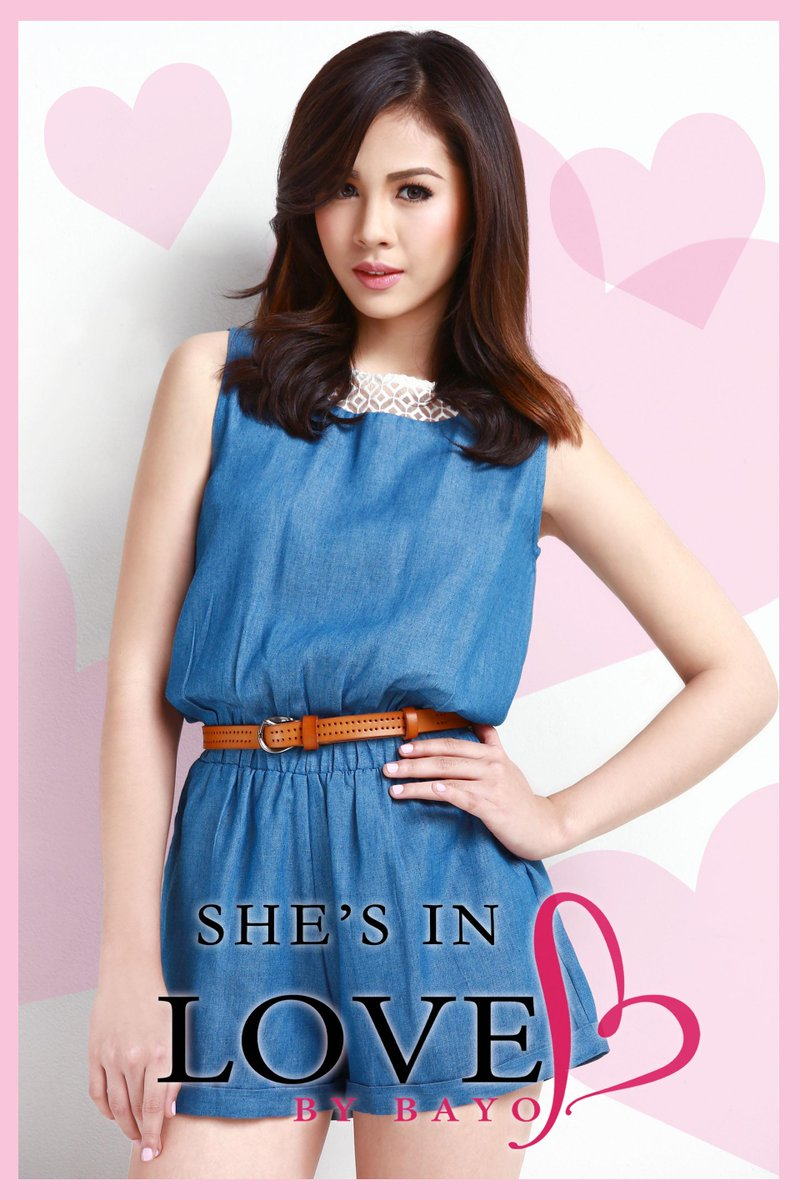 Stunning @superjanella in her nifty and up-to-date Love by Bayo denim romper! <3 #JanellaSalvador #LoveByBayo http://t.co/tswbPUitMU