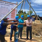 RT @IOM_Philippines: IOM-@unicefphils work for disaster risk reduction & preparedness!Evac. center ground breaking ceremony in Guiuan #DRR …