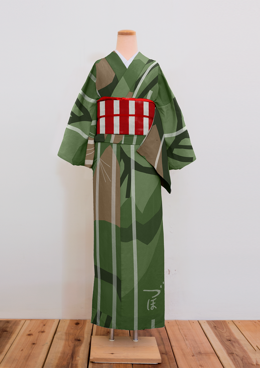 """ダズル迷彩の着物、RTがとても多かったので研究したところこれに行き着きました。日本海軍の空母 """"瑞鳳"""" より。 #kimono http://t.co/oHO1GSJhLS"""