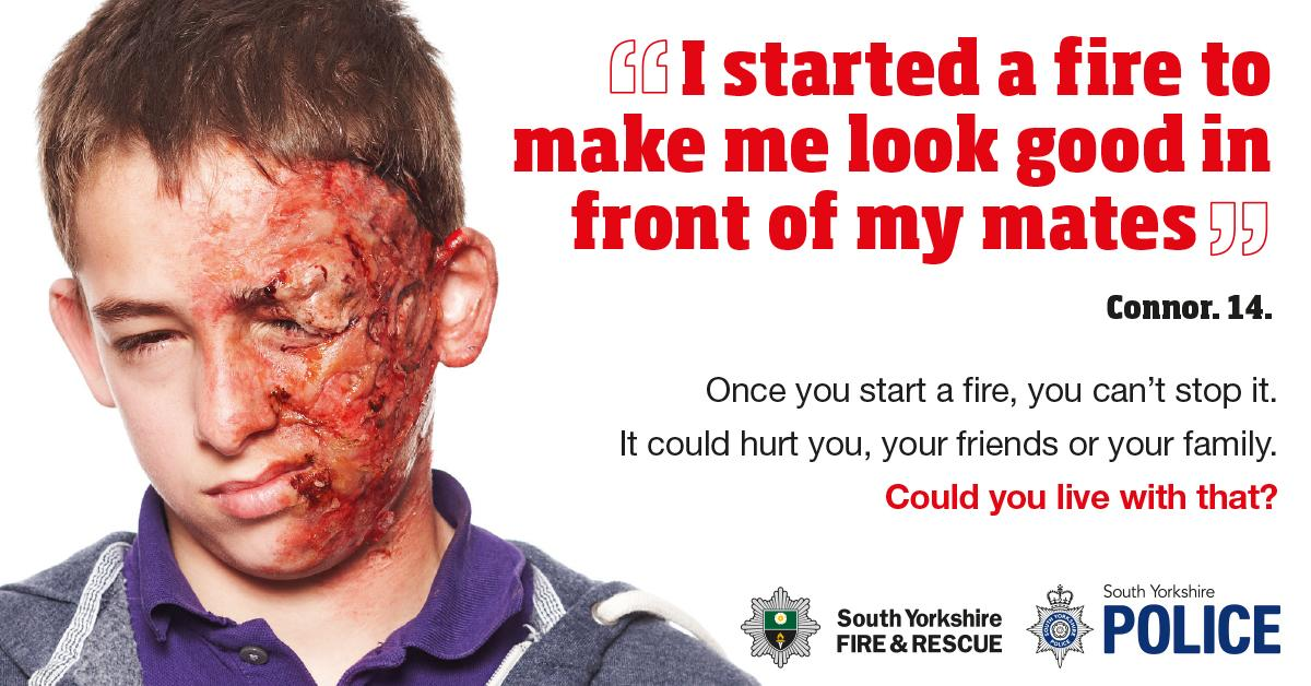 Proud to launch this hard-hitting campaign to tackle arson with @syptweet #connorsstory http://t.co/kCXXQcIE2G http://t.co/Z6i3jLNVpi