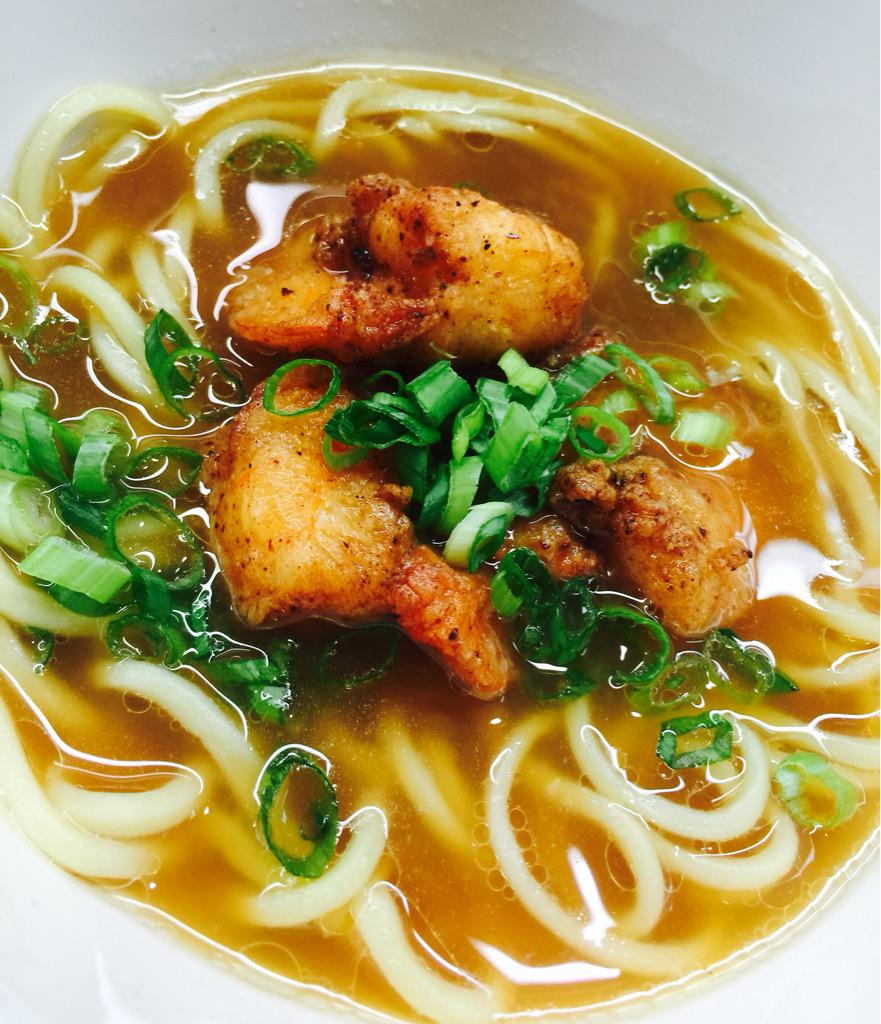 Crispy fried shrimp in a tantalizing beef broth! Come get your ramen fix at #sqwok on 10 at 10th!! http://t.co/tWBO2DwIcM