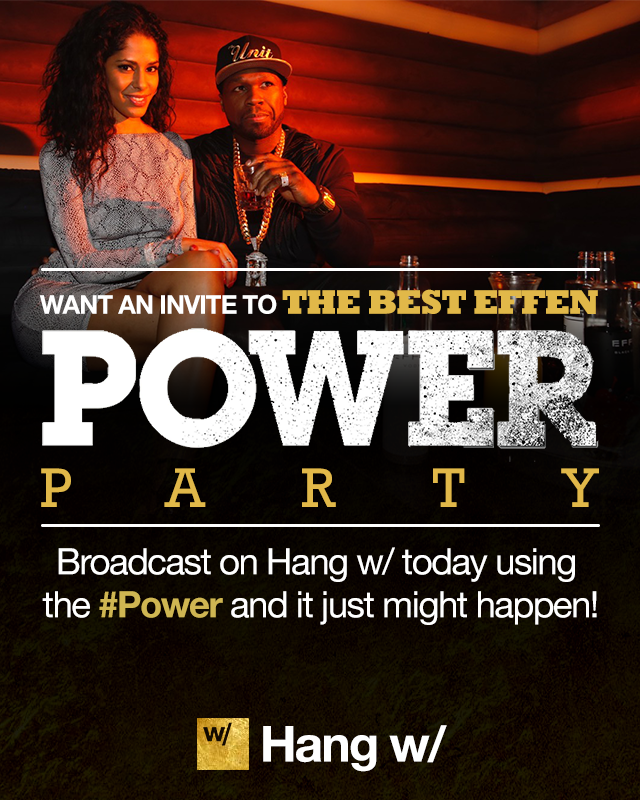 Who wanna come to my NY #Power FINALE party? Let me know why its u on Hangw/ use #50truefan http://t.co/21JxUXhtLc http://t.co/klzodC8Nxd