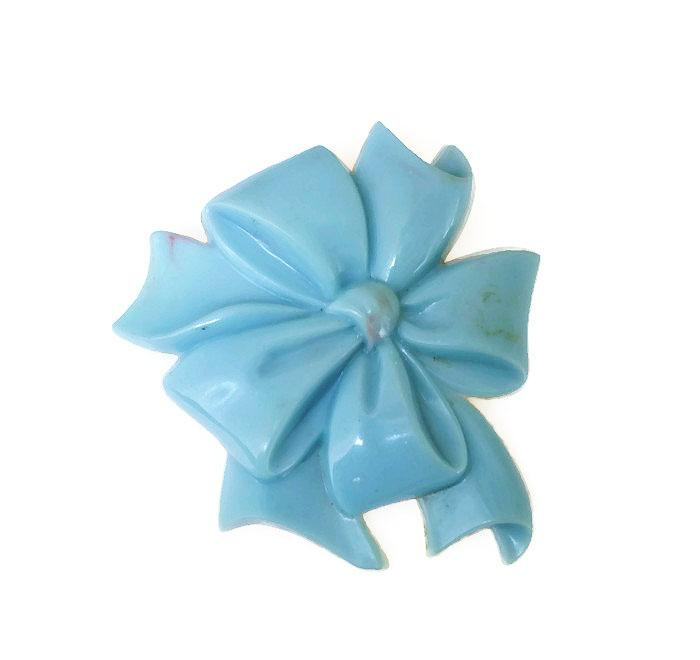Vintage Celluloid Bow Ribbon Powder Blue Early Plastic Brooch http://t.co/7ftrGFXeFI #teamlove #gotvintage #vogueteam http://t.co/dOXLE2f565