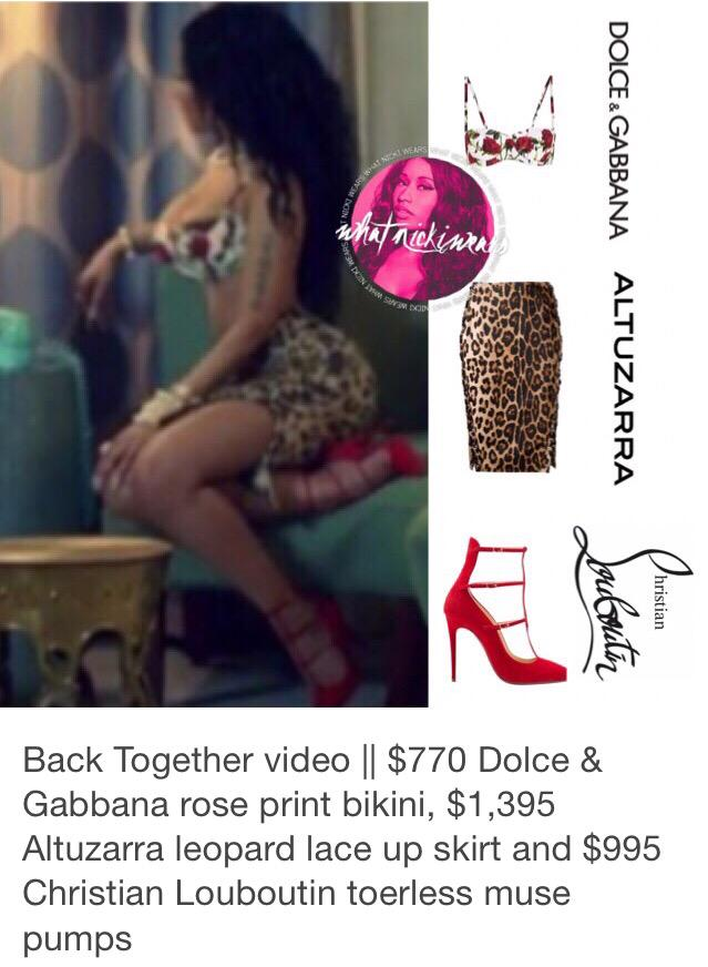 RT @_KirstyMatthews: Nicki's outfit in #BackTogether http://t.co/BQIxg5WAoG