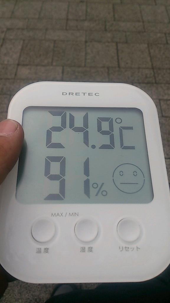 0600 ビッグサイト前の温度と湿度 http://t.co/Atk1RrDd1A