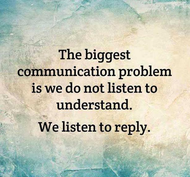 Too often we listen but don't hear. http://t.co/4SZhlGslDv