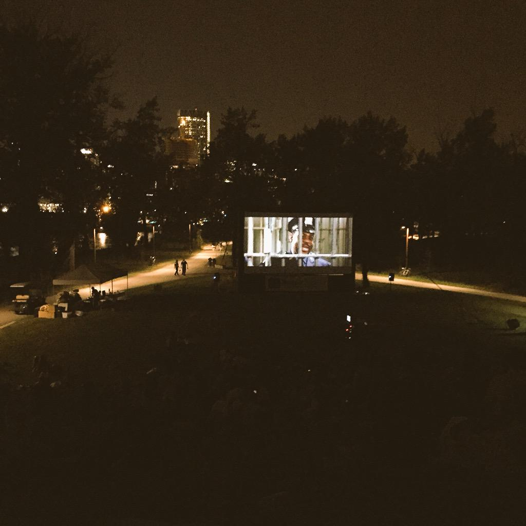 Managed to catch the end of Ghostbusters on St. Patrick's island. I've never been more in love with this city. #yyc http://t.co/fLHt3w8x1K