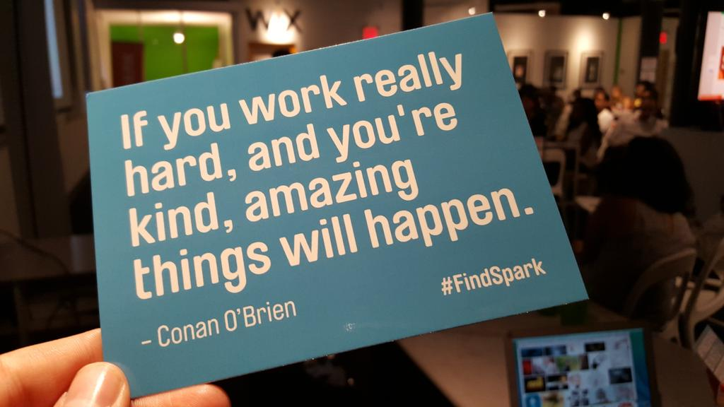 Love this quote. @ConanOBrien #findspark #wixevents http://t.co/teD7Zl286S