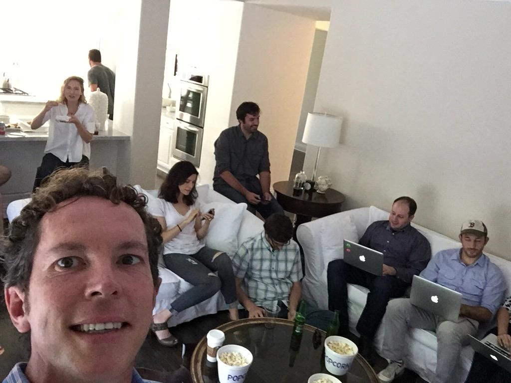 Live tweeting with the actors and writers! (The actors are the pretty ones) #Complications http://t.co/NviTr7LGjZ