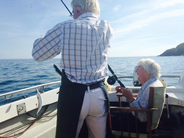 Mrs Allen #motherofmodernirishcuisine fishing with her son Rory from his boat in #Ballycotton yesterday #amazinglady http://t.co/vUVU0Kf7OI