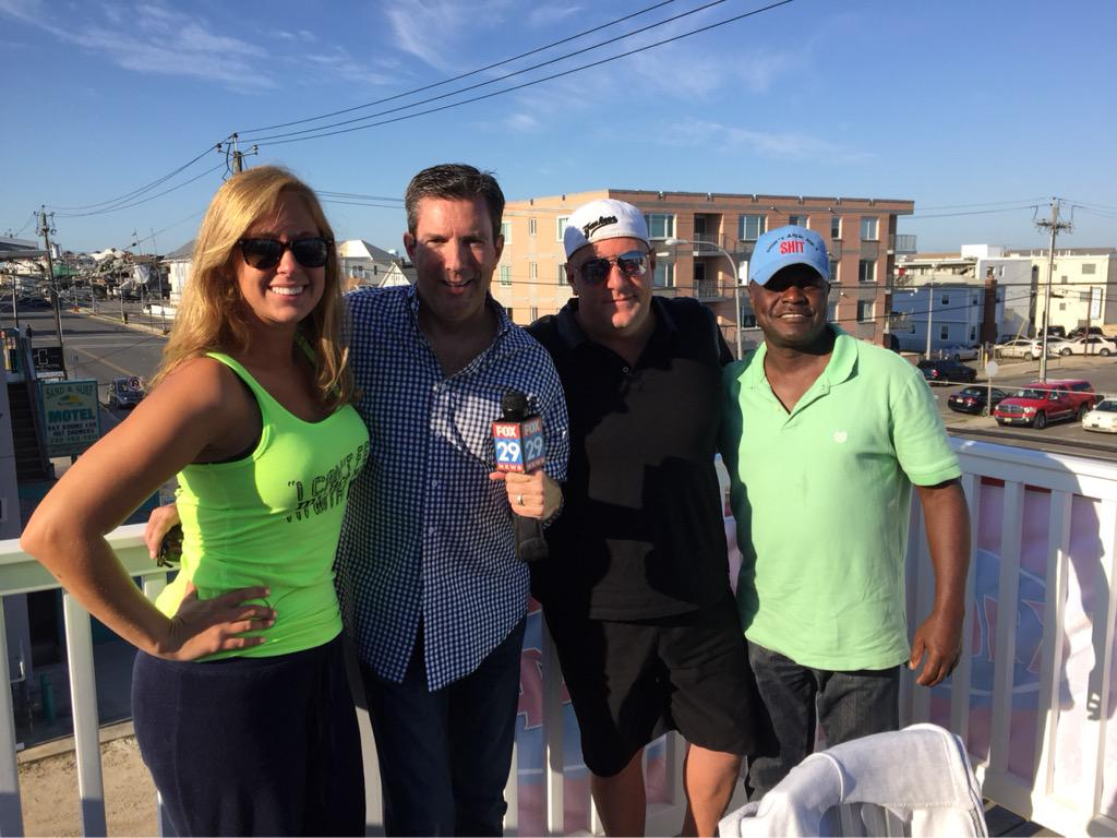 Thanks to woodman, kate and blackberry from k104.7 for allowing philly to  check out the jersey shore house.