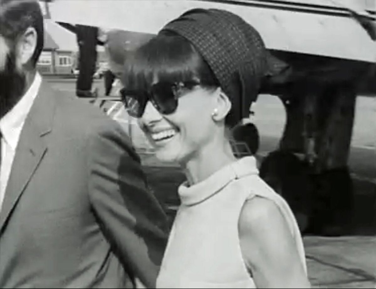 RT @RTEArchives: Audrey Hepburn arrives @dublinairport OnThisDay 1964