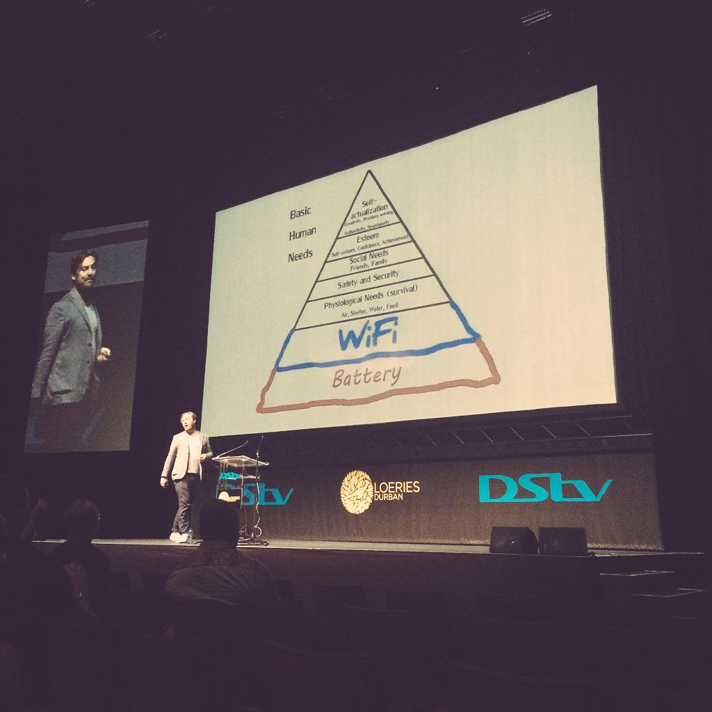 New Hierarchy of Needs #Loeries2015 http://t.co/Mbvy1qmWTV