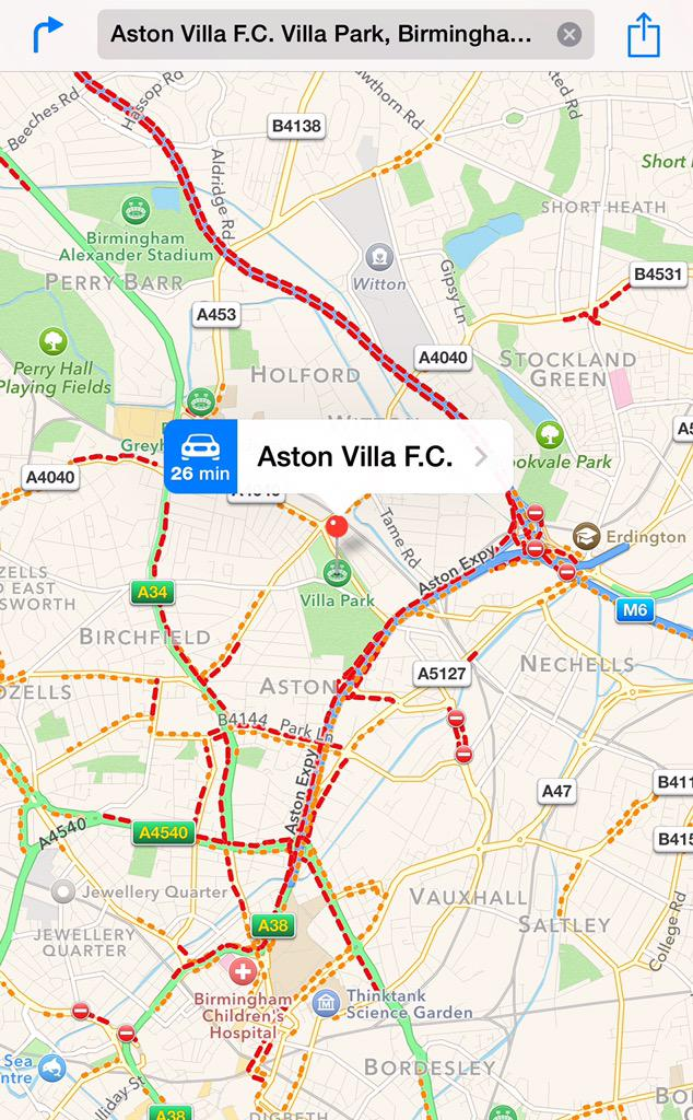 Coming to #avfc v #mufc tonight? Leave early M6 closed - look at current traffic cc @WMPVillaFC http://t.co/39aSxUEeXv