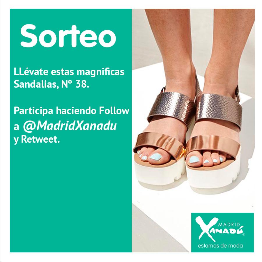 Sorteamos estas Sandalias, Nº 38. Para participar síguenos y haz retweet. El próximo viernes publicaremos el ganador. http://t.co/5UB0lnG1gr