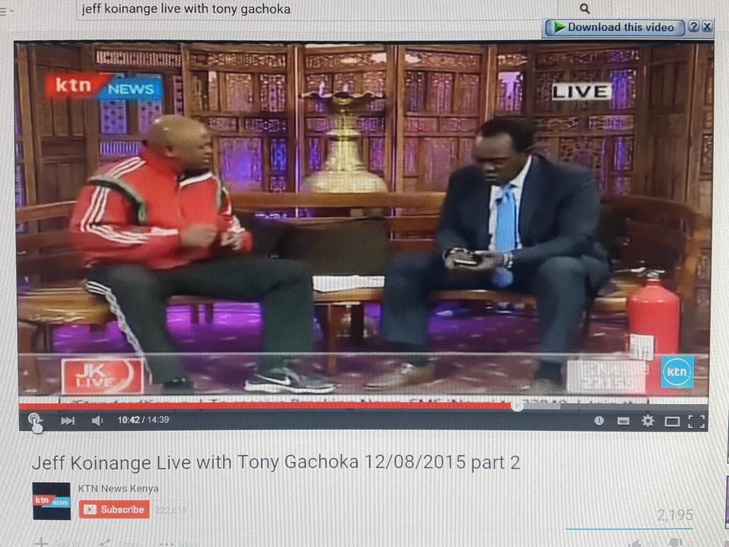 'Somebody with 50bob can buy a shoe or a shirt' - #Gachoka then @KoinangeJeff adds, 'or a tracksuit' 😂 😂@TonyGachoka http://t.co/qxtINukoFO