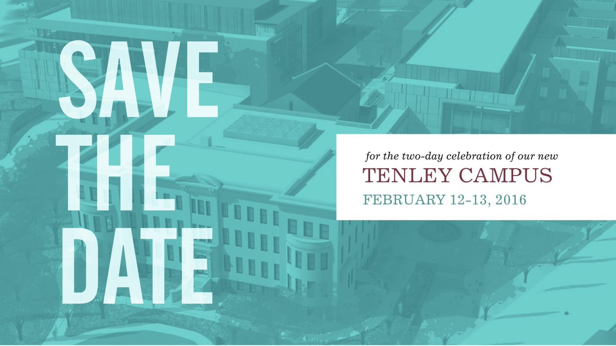 The date is set! We are thrilled to see everyone at the two-day Tenley campus celebration. http://t.co/VfmC0zp93g http://t.co/8qixTumI1c