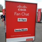 RT @rogerscup: World #1 in doubles, @MirzaSania is doing a Cisco Fan Chat at 5:15 in the Rogers Connected Zone! #RogersCup http://t.co/exR5…