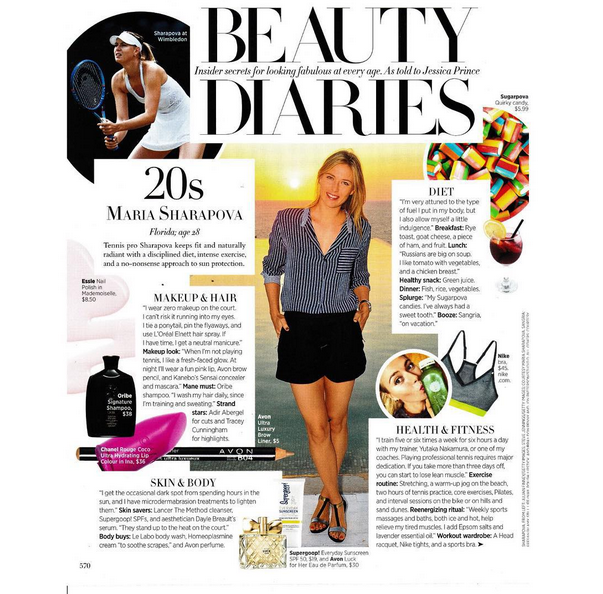 RT @Sugarpova: Did you catch @MariaSharapova in the newest issue of @harpersbazaarus? #Sugarpova made an appearance too! http://t.co/9GqfkR…