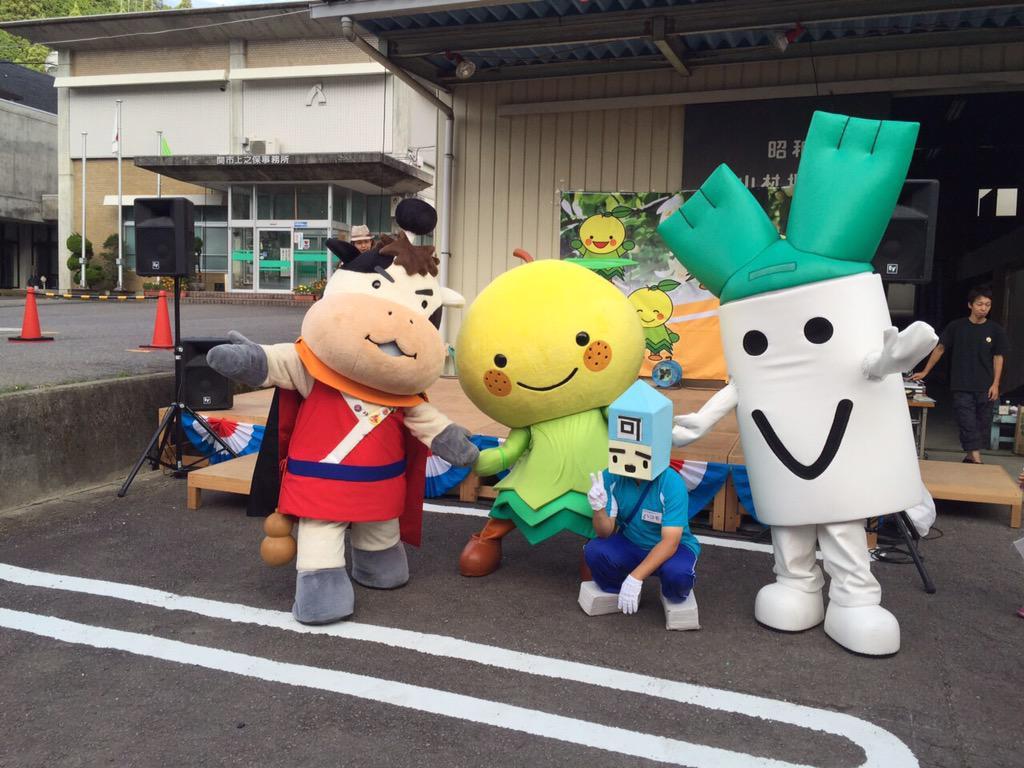 そして、昨日は、関市上之保夏祭り〜ゆずりん&ねぎっちょ&ぎせつ丸&ハコモ(=´∀`)人(´∀`=) 大暴れでござるぅ