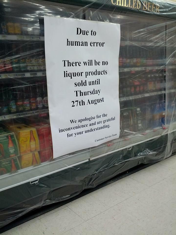 You won't be buying booze at Chaffers New World til Thursday http://t.co/mr4e1rN86C http://t.co/wT4mordVBm