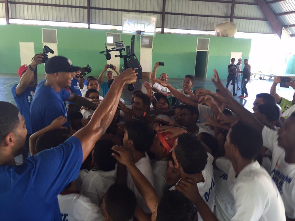 "As part of #BWBAmericas 2015, ""La Fundacion De Charlie Villanueva Basketball Camp"" hosted clinic in Cabrera, DR. http://t.co/BnHSYA9ys9"