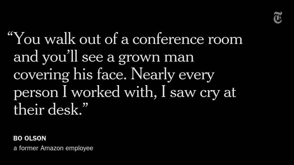 Inside Amazon: Bezos' quiet experiment in pushing employees as far as they can go. Our story: http://t.co/056XdY91l3 http://t.co/927r2DATTl