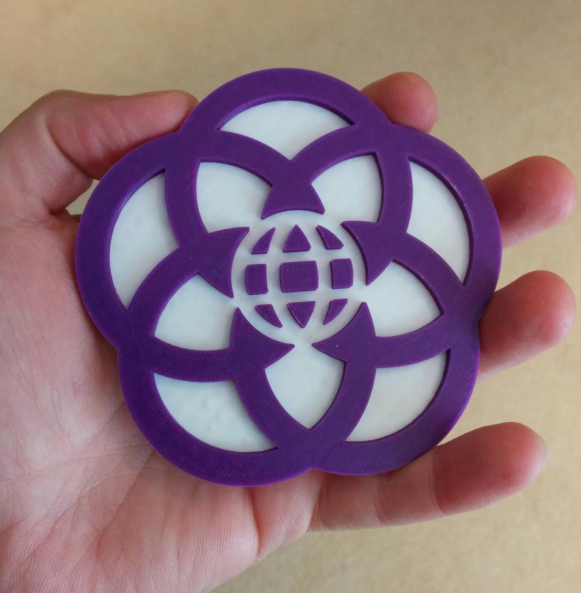 In honor of #D23Expo One random person who retweets this will get this EPCOT Center 3D printed coaster! Last Chance! http://t.co/ttDxAq26L6
