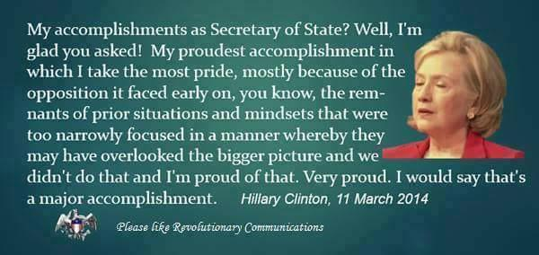 Research @HillaryClinton's record! But if you're too lazy, here's her statement below on her accomplishments  ==>> http://t.co/tDoDNQ8BPh