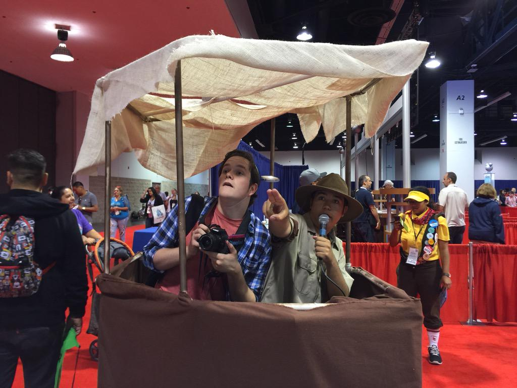 The costume at #D23Expo is winning. #DISD23 http://t.co/G1vniExc25