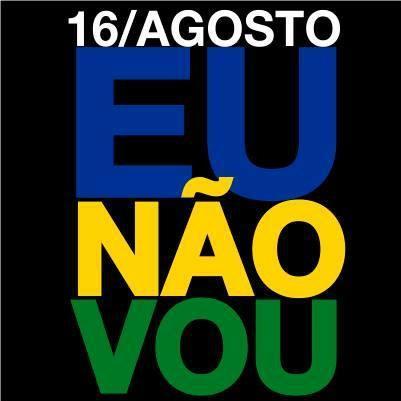 Golpistas,  Dia 16 EU Não VOU!!!  Já fui em outubro.   Respeitem o meu voto!!! http://t.co/ljiyGAWVJ4