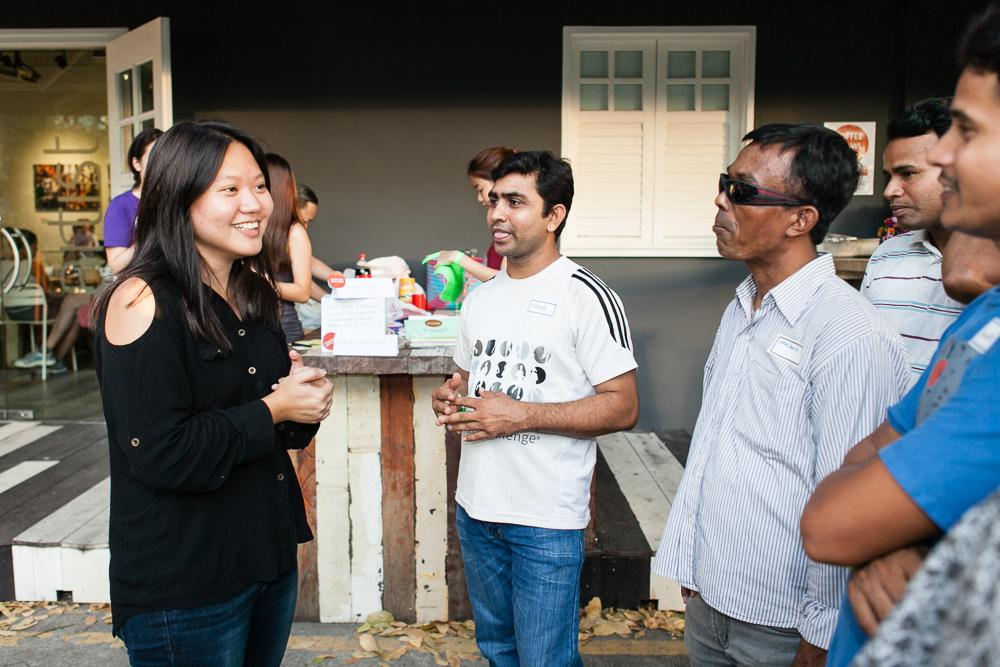 Meet the woman who throws food parties for migrant workers and Singaporeans. http://t.co/XvYv2TeZfw http://t.co/HGuTWesgpy