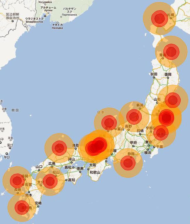 原発事故で人が住めなくなる可能性マップですが、三重ー和歌山ー徳島ー高知がなぜ生き残っているかというと住民の反対によって原発計画を蹴散らしたから。映画「シロウオ」は和歌山ー徳島が舞台 http://t.co/PrE1qYMGM8 http://t.co/9sY0oRUO1v