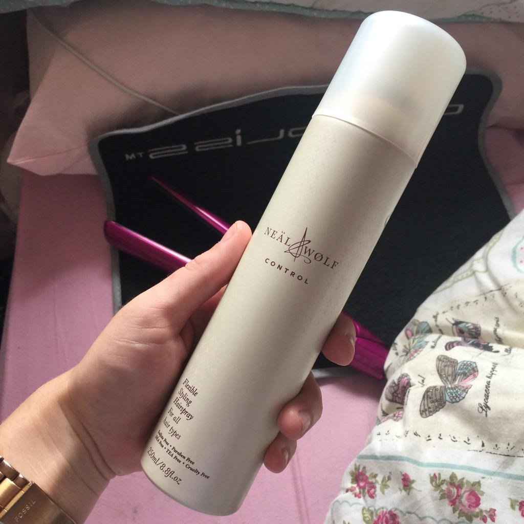 In love with this @NealandWolf hairspray that I got at the @Norwich_Blogger event! http://t.co/ZYesXlvks2