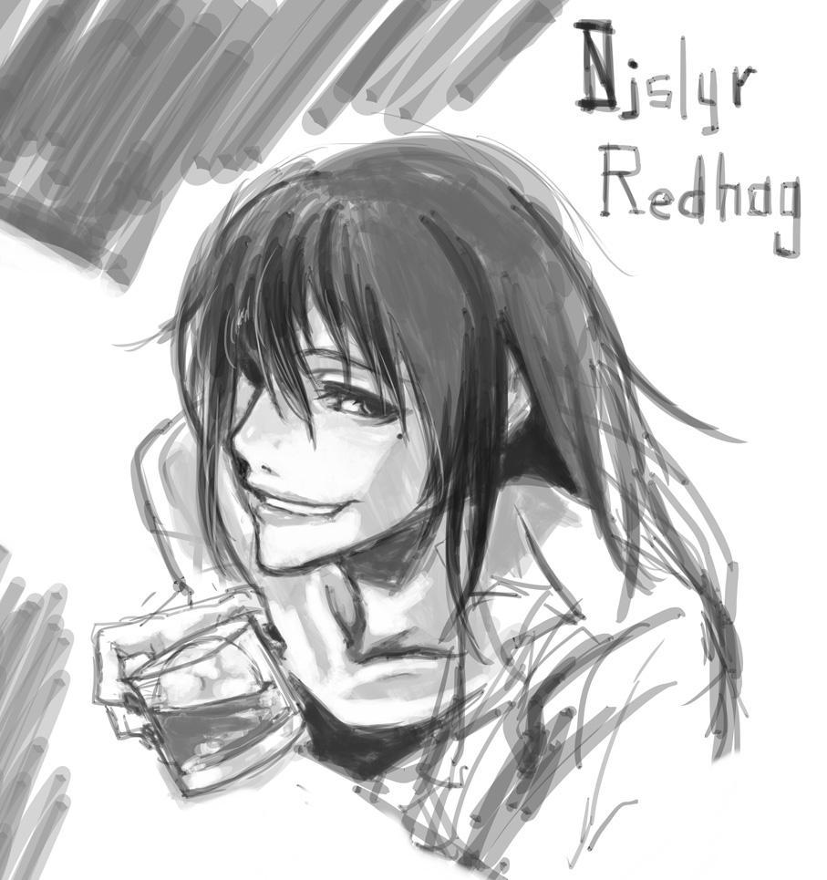 レッドハッグさん。ドランクンアンドストレイドでオモシロカワイイだったので描きました #njslyr #ウキヨエ http://t.co/2Qxb94IHke