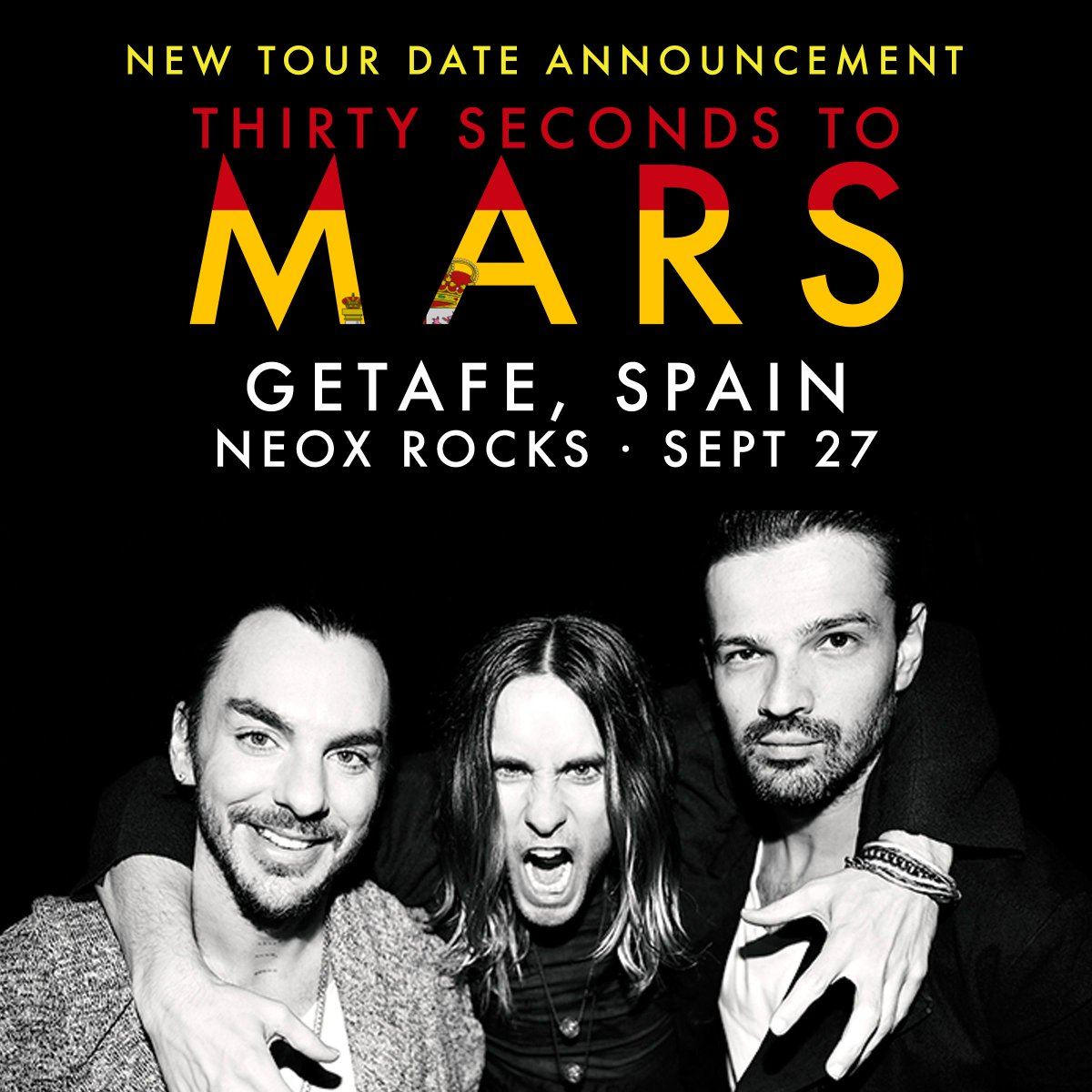 RT @30SECONDSTOMARS: Are you ready, Spain? → Tix: http://t.co/wQlIoIe6Qy • VIP: http://t.co/5h2GNPjb1o http://t.co/u0hdf9gyqf