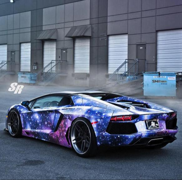 This Lamborghini With A Galaxy Paint Job Looks So Sick Scoopnest