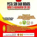 #jogja @dyah_hestii: 1-3/10/15 Pesta Seni Budaya Dayak se Kalimantan ke-13 di Taman Budaya Yogyakarta | http://t.co/y1cCq3m9AU